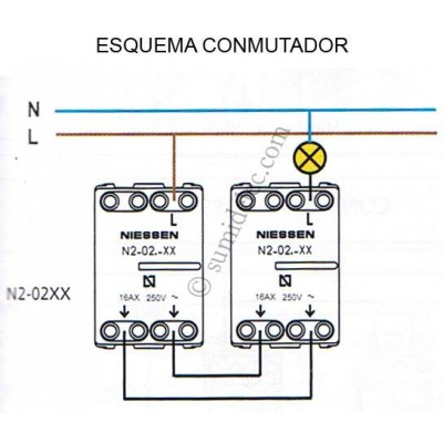 Conmutador Niessen 8102 para sky...