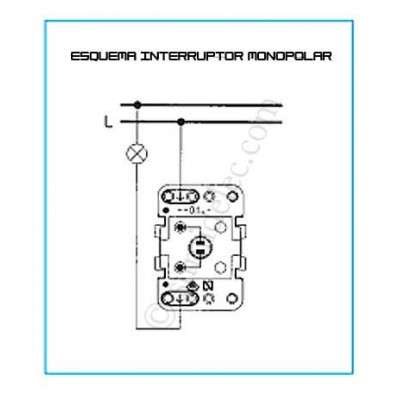Interruptor bipolar  16A 8101.1...