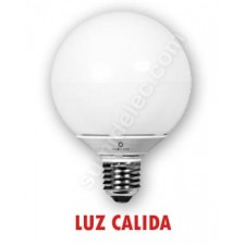 Bombilla LED globo E27 color luz cálida 10W
