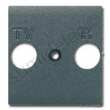Tapa para toma de televisión antracita Livinglight L4204