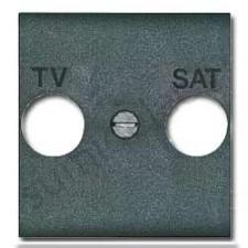 Tapa antracita para toma de TV-SAT Livinglight L4212