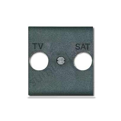 Tapa antracita para toma de TV-SAT...