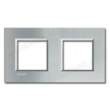 Marco cuadrado de 2 ventana BTicino tech LNA4802M2TE