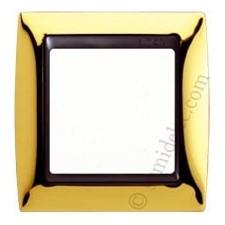 Marco oro 1 elemento serie Simon grafito 82814-66