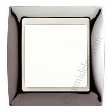 Marco Acero oscuro marfil simon 82714-67 1 elemento