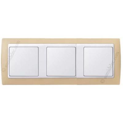 Marco crema blanco 3 elementos simon serie 82 82631 31 precio - Simon 82 precios ...