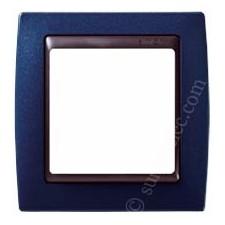 Marco azul metalizado 1 elemento 82814-64 Simon grafito