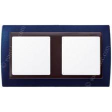 Marco azul metalizado 2 elementos simon 82824-64