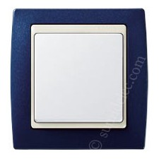 Marco Azul metalizado 82714-64 Simon serie 82 marfil