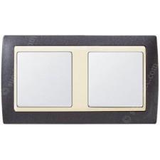 Marco Gris granito marfil 2 elementos simon 82724-60