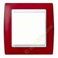 Marco Rojo translúcido 82613-37 1 ventana Simon