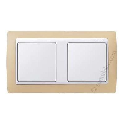 Marco crema blanco 2 elementos simon 82621 31 precio - Precio simon 31 ...