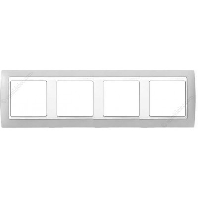 Marco Gris blanco 4 ventanas Simon...
