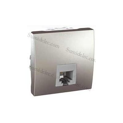 7e657daf8284f Toma 6 contactos telefono rj12 u3.497.30 aluminio unica eunea precio