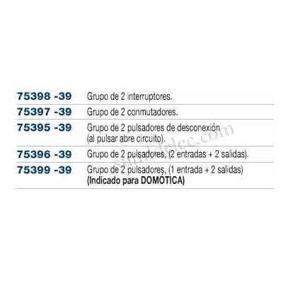 Doble pulsador 75396-39 para series...