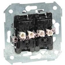 Doble conmutador Simon 75394 con luminoso incorporado