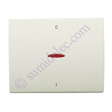 Tecla visor interruptor bipolar 8401.4bl blanco jazmin olas nies