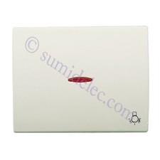 Tecla pulsador visor simbolo luz 8404.4bl blanco jazmin olas nie