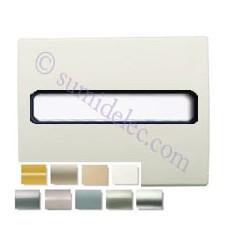 Tapas 8455 varios colores con porta-rótulos. Mecanismo completo