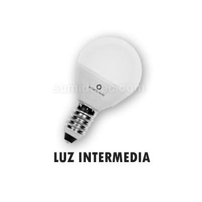 Bombilla LED esférica mate E14 luz...