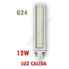 Lámpara PL de LED 12W Samsung luz cálida G24