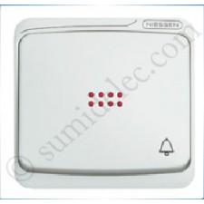 Tecla pulsador visor simbolo timbre estanco Niessen 8704.3ba