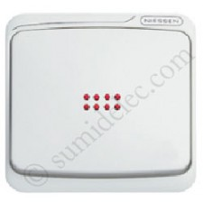 Tecla visor interruptor conmutador 8701.3ba Niessen Estanco