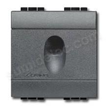 Salida de cables ancha BTicino Livinglight antracita L4954