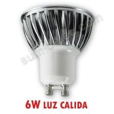 Bombilla GU10 de LED CREE 90º abertura 6W