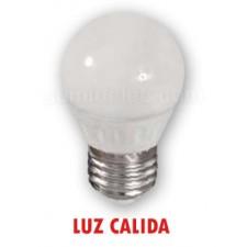 Bombilla led E27 de 5w esférica mate luz cálida