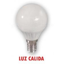 Bombilla esférica mate de LED luz cálida 5w de consumo