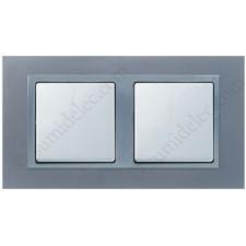Marco aluminio 2 elementos Simon 82 82927-33 acabado metal