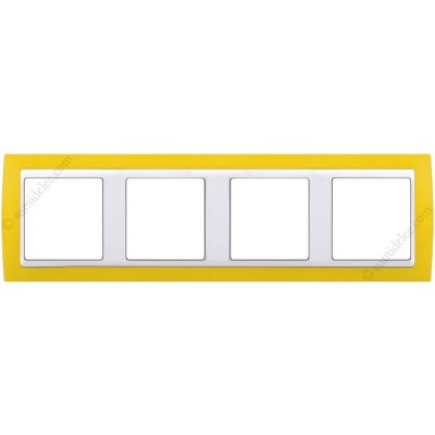 Marco Amarillo blanco 4 ventanas...