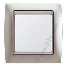 Marco aluminio mate 1 elemento 82914-33 simon