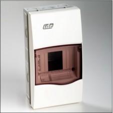 Caja 4 modulos IDE empotrable IP40 blanca puerta transparente