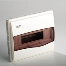 Caja distribución empotrar blanca ventana opaca 12 modulos