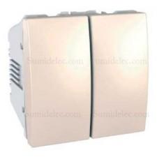 Doble interruptor 10ax u3.211.25 marfil serie unica schneider