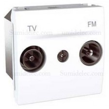Toma tv fm u3.452.18 blanco final serie unica schneider