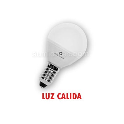 Bombilla LED esférica mate luz cálida...