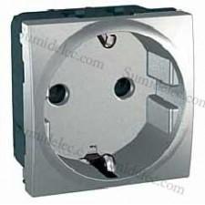 Toma corriente mgu3.057.30 aluminio top proteccion infantil
