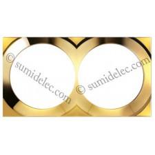 Marco oro 2 elementos 88622-36 Simon 88 gama cuadrada