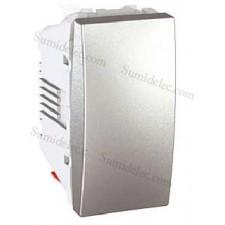 Pulsador u3.106.30 abierto estrecho aluminio unica top