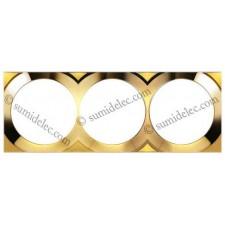 Marco oro 3 elementos Simon 88 gama cuadrada 88632-36