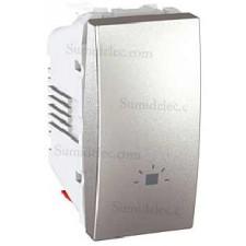 Pulsador simbolo luz U3.106.30L estrecho aluminio unica top
