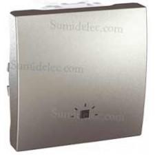 Pulsador simbolo luz 10a u3.206.30l aluminio serie unica eunea