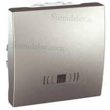 Pulsador simbolo timbre 10a ancho u3.206.30c aluminio serie unic