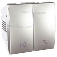 Interruptor doble persianas u3.208.30 aluminio serie unica top