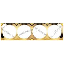 Marco oro 4 elementos cuadrado 88642-36 Simon 88