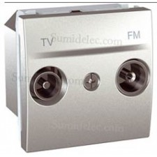 Toma tv fm u3.453.30 aluminio intermedia serie unica top