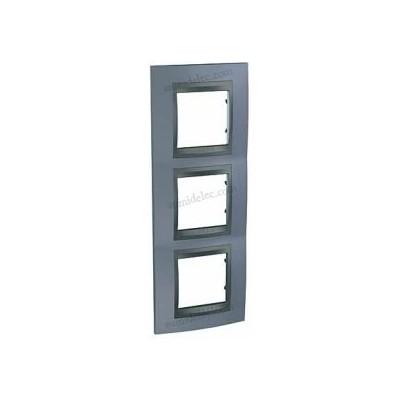 Marco 3 elementos gris metal u66.006v.297 serie unica top